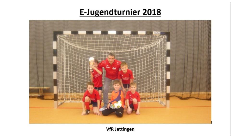 Sieger E-Jugendturnier 2018